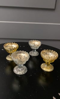 Mercury Glass , mint tray or candle holder (lot of 30)