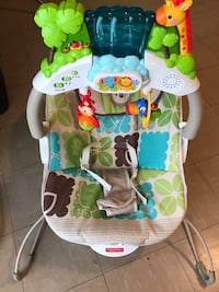 baby's white and green Fisher Price bouncer Vienna, 22180