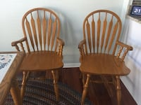 two brown wooden windsor chairs Fairfax, 22033