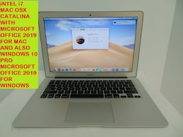 2014 Intel i7 Macbook Air with Catalina and Windows 10 Pro