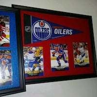CONNOR MCDAVID OILERS framed picture cards penant  Edmonton, T6X 0M8