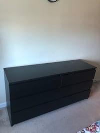 Dark brown chest of drawer from ikea. 6 big drawers Cherry Hill, 08002