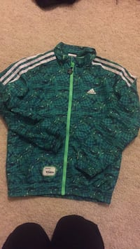 Teal and white adidas zip-up track jacket 洛克維爾, 20852