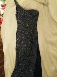 Designer Beaded Evening Gown size small