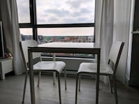 White wooden desk with 2 chairs Montréal, H8N 3G2