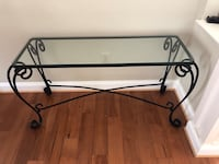 Wrought Iron and Glass Console Table Gaithersburg, 20878