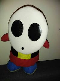 white, black and red cartoon character plush toy 3750 km