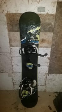 Slim quest Black and white snowboard with bindings Troy, 16947