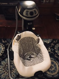Baby's white, grey and black cradle n swing Rochester, 14622