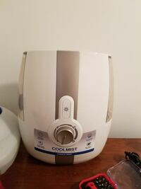 white and gray Coolmist humidifier