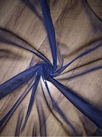 "1 MTR NAVY BLUE TULLE STUDDED FABRIC..45"" WIDE Halifax"