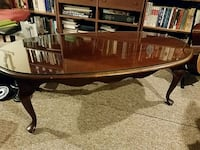 Solid cherry coffee table with custom glass top Arlington, 22201