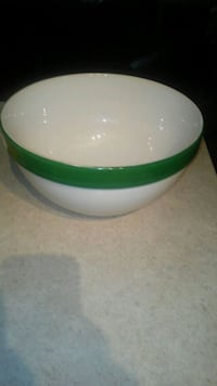 round green and white ceramic bowl Edmonton, T6W 1V7