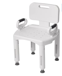 Premium shower chair with back