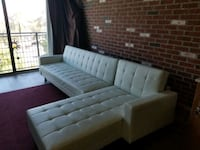 White Pleather Sectional Sofa St. Petersburg, 33705