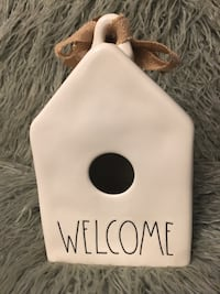 Rae Dunn WELCOME birdhouse