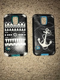 two black smartphone cases