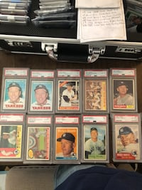 Mickey Mantle. I'm open to offers and trades. I don't need to sell so please don't offer me $150 for all these mantles. I know the value of my cards.also my earliest mantle is a 53 topps and a 54 bowman quite a few others Bel Air, 21014