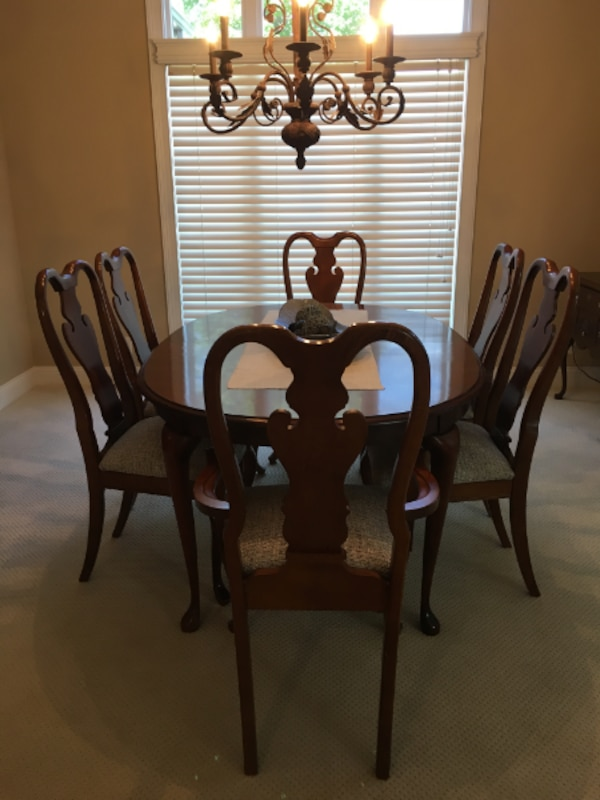 9 Piece American Drew Cherry Dining Table Set