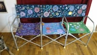 two blue and white floral folding chairs Ravenna, 75476