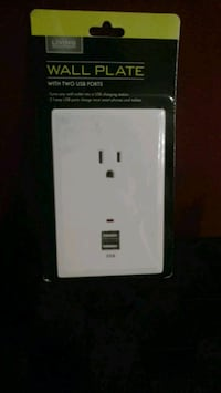 Living Solutions Wall plate with 2 USB ports 287 mi