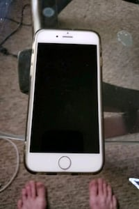 silver iPhone 6 with black case Calgary, T3B