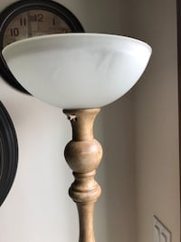 gray and white table lamp Richland