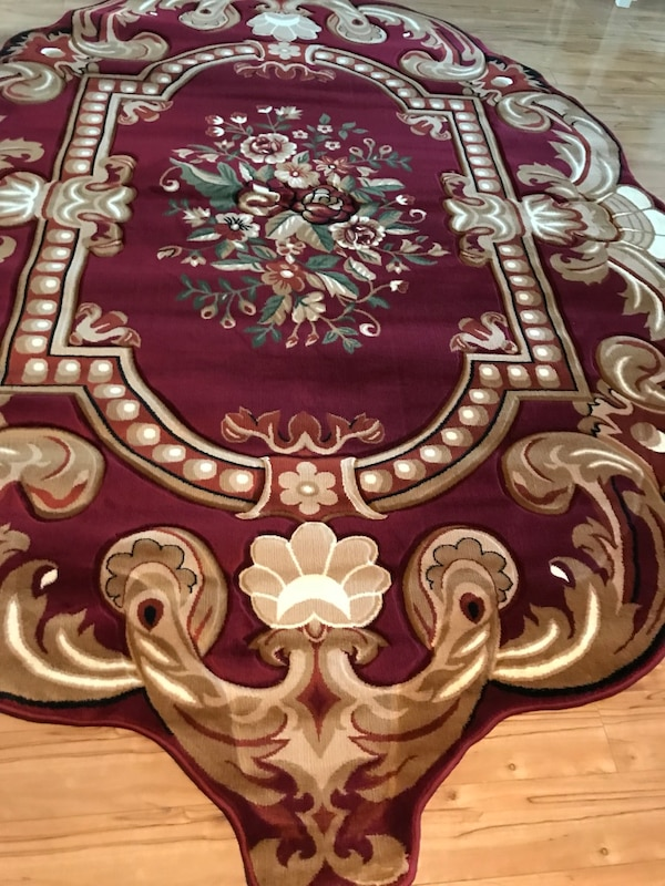 Brand new heavy soft Area Rug size 8x11 nice Red Carpet Oval Area Rug 362c7eb6-001d-4b56-bb73-c8bee28927ed
