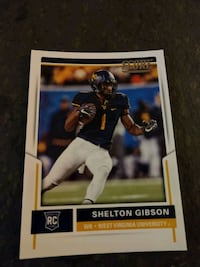 Shelton Gibson Rookie Card Score Football Card