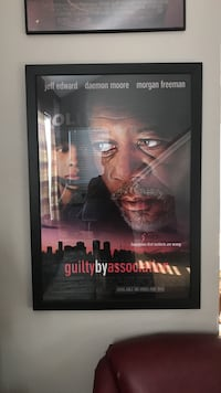 black framed Guilty By Association poster College Station, 77840