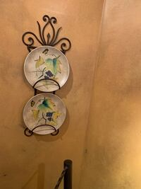 Plates on a wall stand
