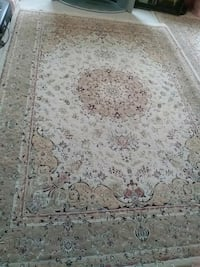 white and brown floral area rug Toronto