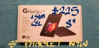 """Amazing LG GPAD IV 8""""PHABLET with sim.New Sealed Pointe-Claire, H9R 3A3"""