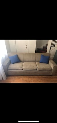 Tan Fabric 3-Seat Sofa with Pull Out Bed Denver, 80207