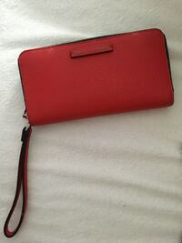 Red Leather Armani Exchange Wallet