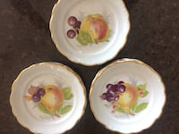 "Vintage side plates. Mint condition, four of each, 12 total. 7.5"" diameter with gold trim Oakville, L6M"