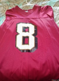 red and white NFL jersey
