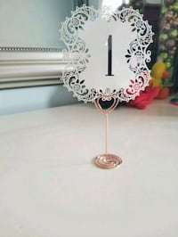 1-30 laser cut table numbers + holders
