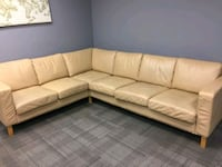Free delivery GTA: Genuine leather sectional.  Toronto