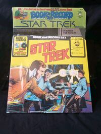STAR TREK BOOK AND VINYL RECORD