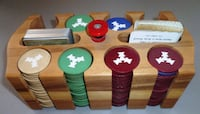 Poker Chips Cards Caddy Antique