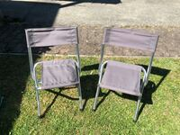 2 small Coleman foldable chairs Surrey, V3T
