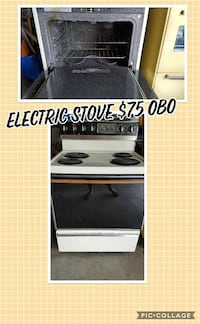 white 4-burner electric stove with oven Kendallville, 46755