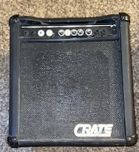 """Crate BX-25 10"""" Bass Guitar Amplifier 27W beat up amp as is."""