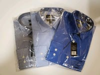 3 New Dress Shirts size  [TL_HIDDEN]  and 34/35 Lancaster, 14086