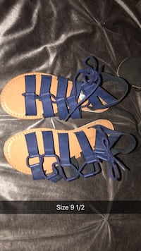 pair of blue leather sandals Oxnard, 93030