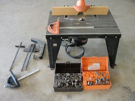 Craftsman Table and  Wood Router