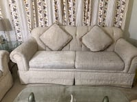 3-Seat Sofa + Glass Table: MAKE ANY OFFER AND PICKUP TODAY Fairfax, 22030