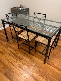 Glass/Metal Dining Table Set Chatham, 07928