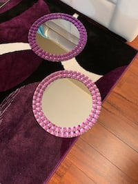 2 purple round shaped stone mirrors Toronto, M1P 0B3